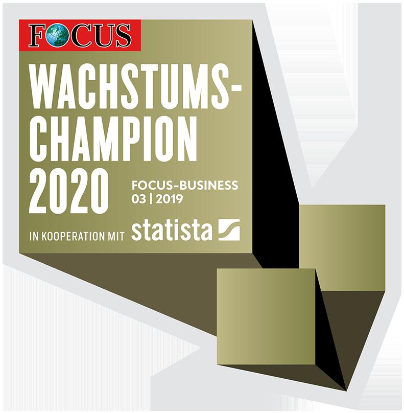FOCUS Wachstumschampion 2020 Siegel